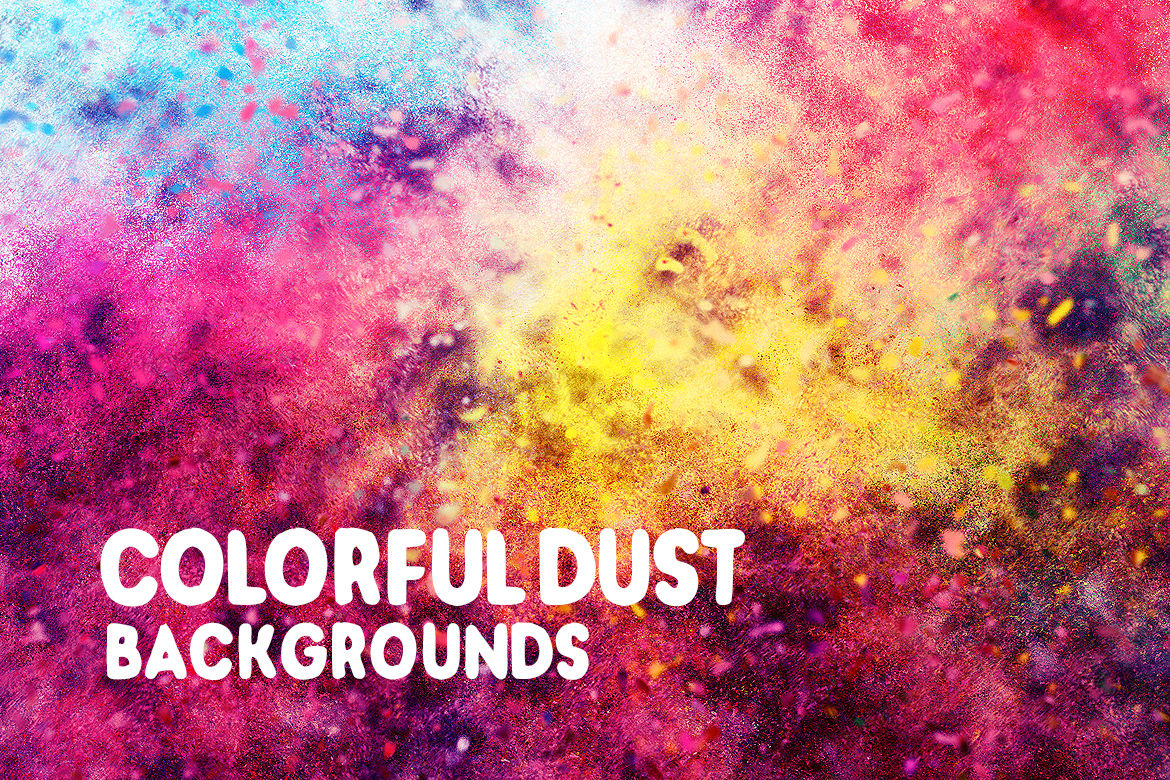 Colourful Dust Background Graphics