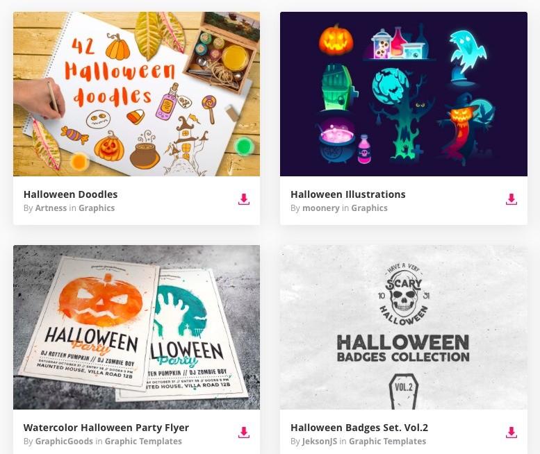 Envato Elements Halloween Range