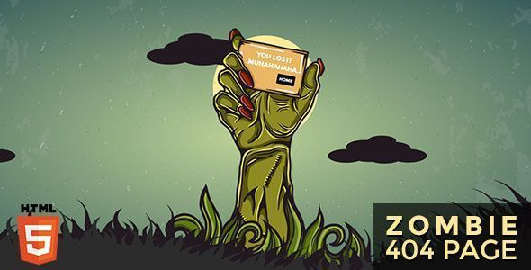 Zombie Animated 404 Page