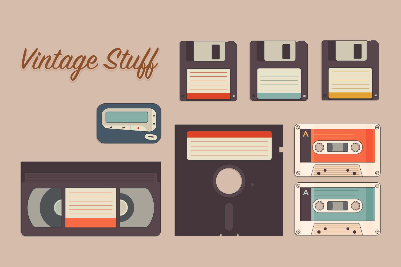 Vintage Storage Icons