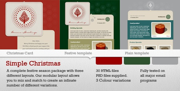 Simple Christmas Newsletter Theme