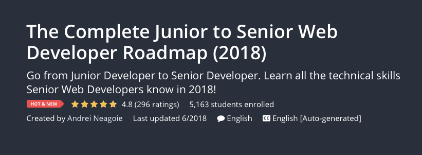The Complete Junior to Senior Web Developer Roadmap