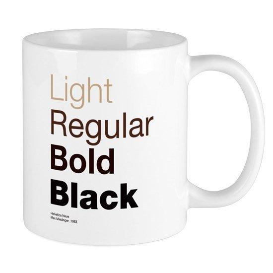 Helvetica Neue 11 oz Ceramic Mug