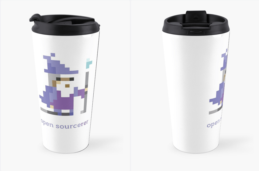 8-bit Open Source Sorcerer - Programming Travel Mug